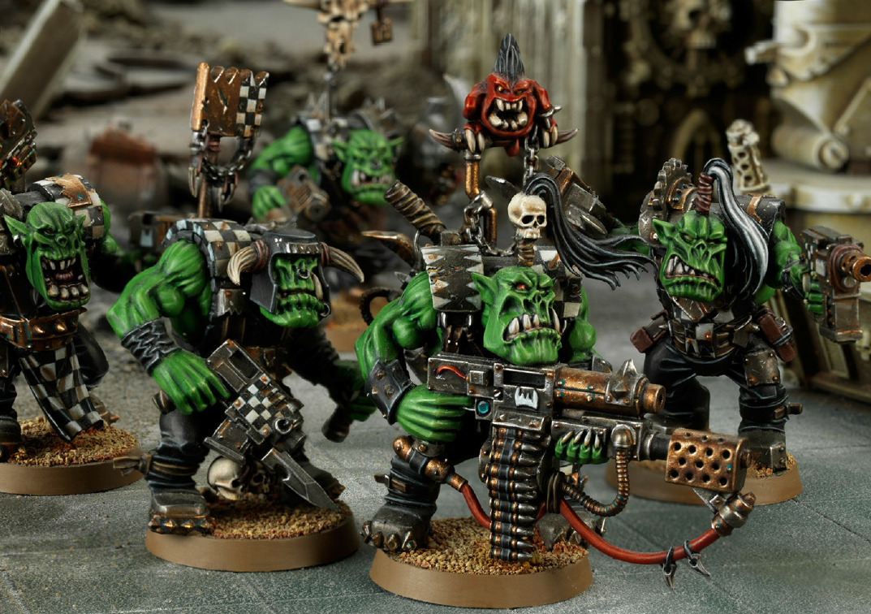 Warhammer 40K ork nobz Nobs Boss Pole TOTEM avec look out squig Bits