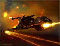 Warhammer BT Thunderhawk by mikkow