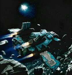 Alpha Legion ship at chondax