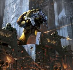Imperial Fists holding the wall