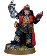 Miniature Commissar with Power Fist