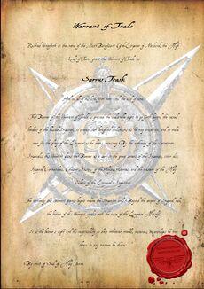 Warrant of Trade