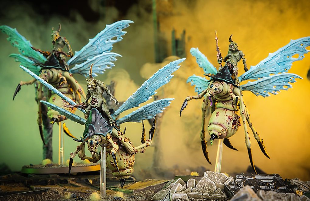 Plague Drones of Nurgle Rot Fly Heads x 2 A G944