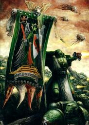 Dark Angels Standard Bearer