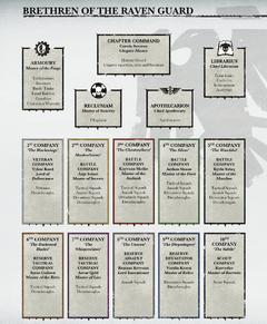Raven Guard's Organisation Structure