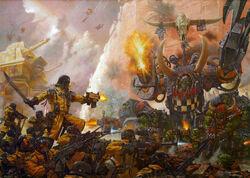 Armageddon Steel Legion Warboss Thraka