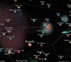 Golgenna Reach Sub-Sector Map