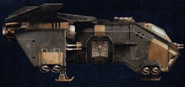 The Fortuna Mori, dedicated Storm Eagle transport craft for the Minotaur