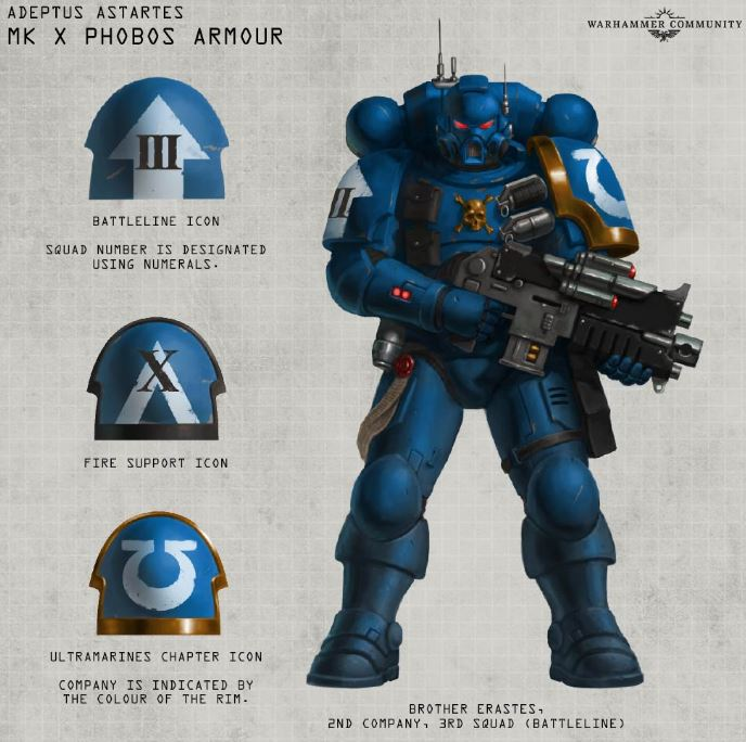 General Warhammer 40k Space Marines: Vanguard Space Marine