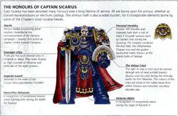 Cpt. Sicarius Battle Honours