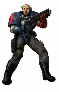 Crimson Fists' Scout Marine