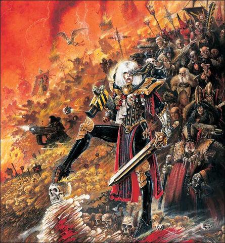 File:Veridyan Battle Sisters Ecclesiarchy John Blanche illustration.jpg