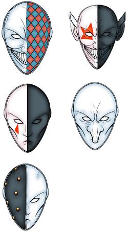 Harlequin Masks