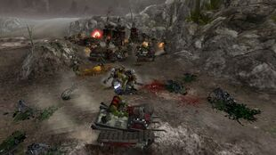 11. Orks Amassing force for push