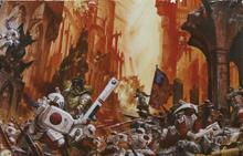 Имперская Гвардия в бою с тау