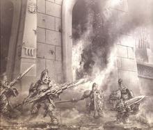 The Legio of Custodes on Prospero