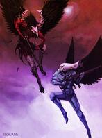 Scourge vs swooping hawk by beckjann-d3atl5w