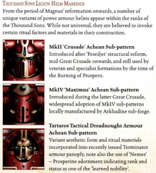 Thousand Sons Legion Helm Marking