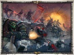 Valhallans flank Orks
