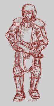 Member of lenaphant guard