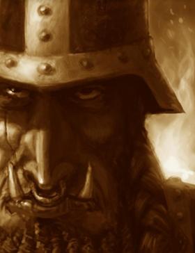 Warhammer Chaos Dwarf Face Art