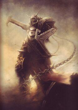 Chaos Siege Giant Sepia Tamurkhan Illustration