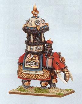 Arabian Lord on Elephant Araby Warmaster Miniature
