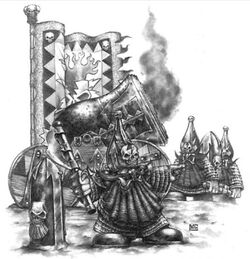 Earthshaker Cannon Chaos Dwarfs 4th Edition Mark Gibbons illustration