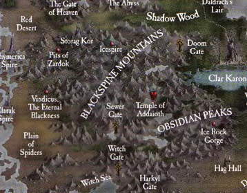 Blackspine Mountains Map