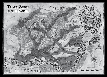 Trade Zones of the Empire Map
