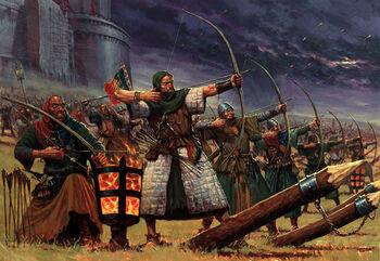 Bretonnia Peasant Bowmen (Art)