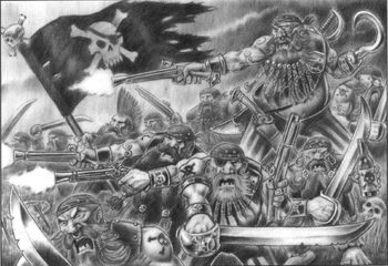 Long Drong's Slayer Pirates Dogs of War 5th Edition illustration
