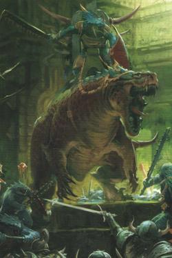 Warhammer Lizardmen Carnosaur Rider