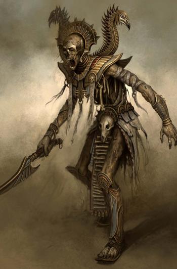 Warhammer Tomb Kings Liche Priest Art