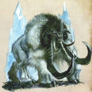 Thundertusk Ogre Kingdoms White Dwarf colour illustration