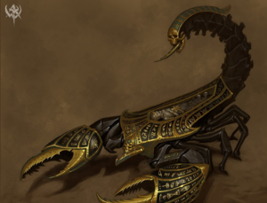 Warhammer Tomb Kings Tomb Scorpions Art