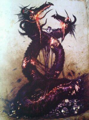 Incarnate Elemental of Death Forge World illustration