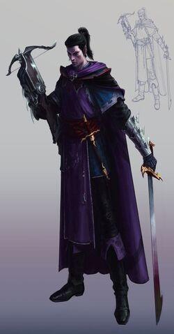 Shades Dark Elves Colour Illustration