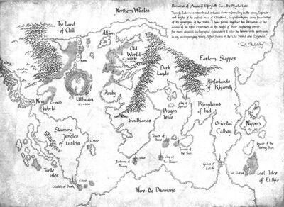 High Elf Domains World Map 6th Edition illustration