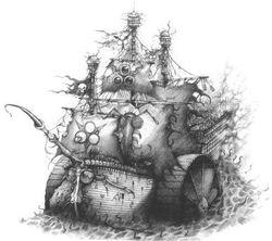 Nurgle Plagueship