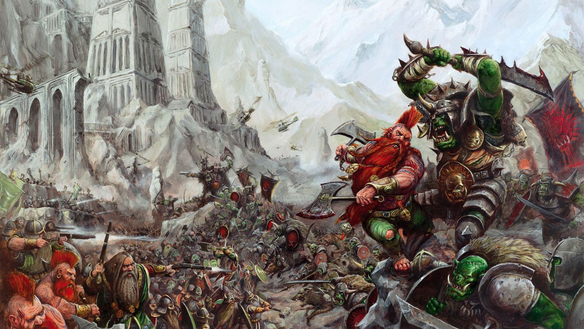 Warhammer Total War 2 Wallpaper 2560 X 1440 Dark Elves: Image - Orcs-VS-Dwarfs-1440x2560.jpg