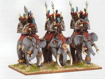 Arabian Elephants Araby Warmaster Miniatures