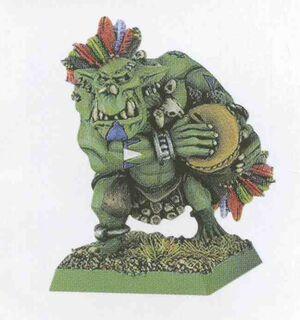 Savage Orc musician Bone Nose Greenskins 6th Edition miniature