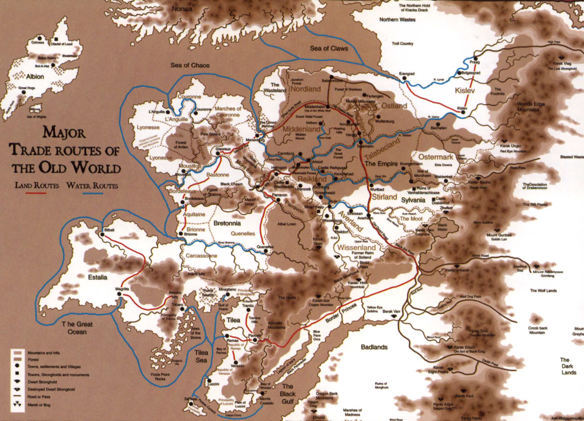 Image major trade routes of the old world mapg warhammer wiki major trade routes of the old world mapg gumiabroncs Gallery