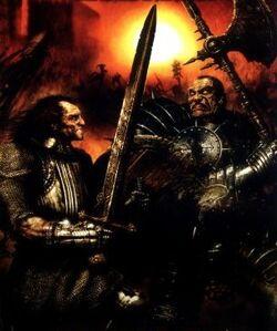 Karl Hoche Battling Chaos Warrior