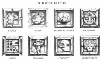 Lizardmen Pictoral Glyphs