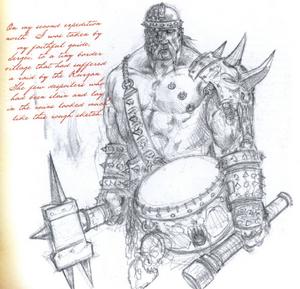Warhammer Kurgan Sketch