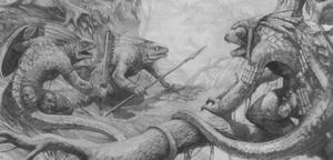 Warhammer Lizardmen Chameleon Skinks Art