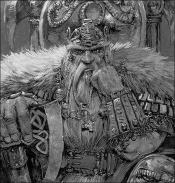 Snorri Whitebeard Adrian Smith Black&White Illustration