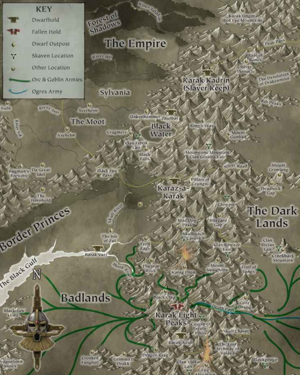 Map of Orkish warbands